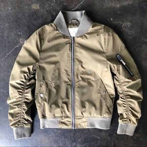 Rachel Roy army green bomber
